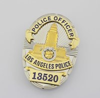 Wholesale 13520 stereo composite structure LAPD Losangeles badge number Copper Badge D High Quality Officer Badge