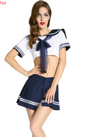 erotic toy - New Hot Cosplay Youth Student Uniforms Sexy Lingerie Women Erotic Costumes Toy Sexy Product Underwear Role Play Crop Tops Skirt Set SV011879