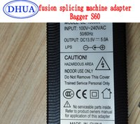 bagger machine - AB127 FTTH Bagger S60 Fusion Splicing Optical Fiber Fusion Splicer machine supply power adapter