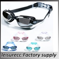 Wholesale Swimming Goggles High Definition With Earplugs Swimming Games Plating Antifog Waterproof Swim Goggles HW0067