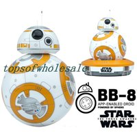 Wholesale Star Wars BB Robots BB8 Droid The Force Awakens BB iOS Android Compatible Bluetooth Smart BLE Connection Free APP