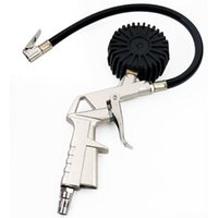 Wholesale New Alloy Air Compressor Tyre Inflator Tool Gauge for Car Bicycle US Fast Shipping order lt no track