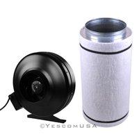 Wholesale 6 quot Inline Fan Blower quot x22 quot Carbon Filter Combo Hydroponic Odor Control Scrubber