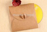 cd dvd sleeves - kraft wedding CD DVD case envelope kraft Paper CD Sleeve packaging for wedding Size cm