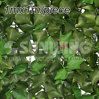 Wholesale SGS certificate UV Protected One Square Meter m m Artificial Plastic Fence Ivy Leaves Plastic mat G0602A005C