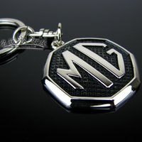 Wholesale Mg car emblem keychain mg6 mg3sw mgtf mg7 laser lettering