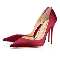 Wholesale Sheeoskin Pure Silk Shoes Pointed Toes Stiletto Heel Fashion Women Lady Super High Heels Shoes Summer Unique Pure Leather Patchwork