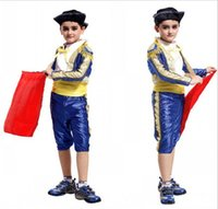 Wholesale Retail New Halloween Children boys Costume Halloween Cosplay Costumes matador costumes Spanish bullfighter festival costumes HC105