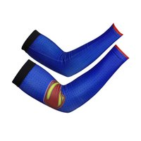 arm warmers blue - Cheji Blue Superman Style Cycling Arm Warmer Sports accessories ciclismo Good Quality Quick Dry Bicycle Arm Sleeve CYAR7137