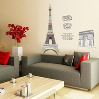 arc room - bedroom decoration PVC Removable wall stickers environmental Arc de Triomphe living room sofa bedroom wall stickers study AY1930