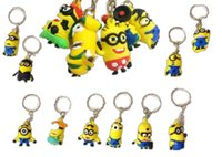 Wholesale 2015 Hot Sale D Despicable Me Minion Action Figure Keychain Keyring Key Ring Cute more than mixed styles