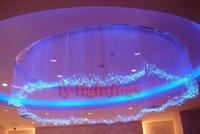 Wholesale Indoor ceiling decoration optic fiber light bedroom optical fiber chandelier W RGB colorful stars wireless remote multi modes