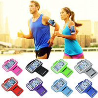 Wholesale 1x Sports Running Workout mobile cell phone holder handset Armbands Pounch Armband Case For iPhone s c s plus arm bag