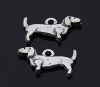 ancient people - x9mm people loyal friends Sausage dog Ancient silver alloy jewelry accessories