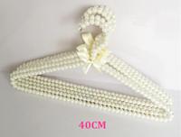 Wholesale Princess sweet pearl plastic Hanger Handmade Ladies anti slip stronge hangers for clothes cm pieces