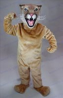 Wholesale Brand New High quality PROFESSIONAL special Customized Cougar Mascot Costume Adult Party Dress