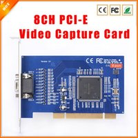 Wholesale Good Quality CH Cameras DVR CARD H D1 CH PCI E Video Capture Card