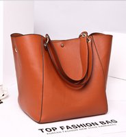 leather handbags - 2016 New Ladies Genuine Leather Handbag and vintage postman handbag Shoulder bag Bucket bag