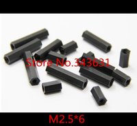 Wholesale 100pcs M2 M2 X Black nylon Spacer Female to Female Thread