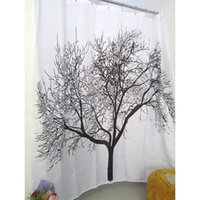 Wholesale New Arrive CM Tree Design Polyester Waterproof Bathroom Bath Shower Curtain Free Hooks Hot sale