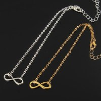 Cheap 2016 New Silver Plated Lucky Forever Infinity Charm Anklet Chain Foot Chain Ankle Bracelet HOT Free Shipping