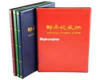 Wholesale 1509 New inch postage stamps album colors pages units handmade Stamp Collecting Book Forceps Stamps for gift