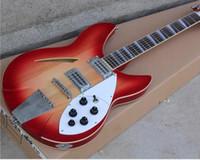 al por mayor pickups-Fábrica personalizada de 12 cuerdas de guitarra eléctrica con cuerpo rojo y 2 pastillas abiertas y se puede cambiar