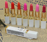 Wholesale 10pcs new Bright high quality charm nude color lipstick makeup moisturizing lipstick color optional waterproof color lipstick free