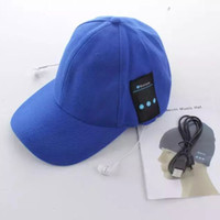 Wholesale bluetooth music hat casual cotton cap with stereo headphone headset earphone pure colors