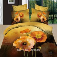 beautiful quilt patterns - yellow Flower beautiful bedclothes with d vivid effects pattern bedding set queen bedcover comforter quilt duvet cover sets