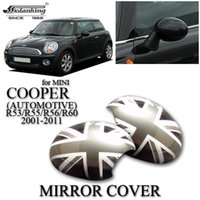 car mirror flag cover - CAR DECORATIONS MIRROR COVER FOR MINI COOPER AUTOMOTIVE R53 R55 R56 R60 Gray British flag