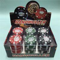 Wholesale 12pcs parts tobacco grinder chip GRINDER mm g per box Creative metal plastic Portable fast smooking tools