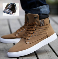 Lace-Up Men Summer 2014 Hot Men Shoes Sapatos Tenis Masculino Male Fashion Spring Autumn Leather Shoes For Men Casual High Top Shoes Canvas Sneakers
