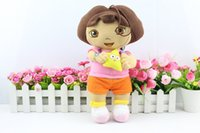Wholesale Dora the Explorer cm Large Dora Plush Doll Cartoon Dora With Star Stuffed Soft Toys Children Baby Kids Birthday Christmas Gift