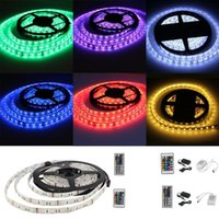 Wholesale 5M SMD Waterproof RGB Flexible LED Light Strip Remote Power Supply