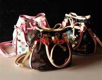 Wholesale Hot Sale Girls Handbags Fashion Kids PU Classic Designer Tote Children Bags Oblique Satchel Handbag Shoulder Bag Children Aslant Bag