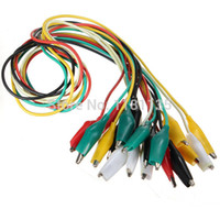 Wholesale 20pcs cm Double ended Test Leads Color Alligator Crocodile Roach Clip Jumper Wire