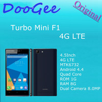 Wholesale Original Doogee Turbo Mini F1 Inch G LTE Mobile Phone MTK6732 Android Quad Core ROM G RAM G Dual Camera MP G