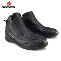 Wholesale SCOYCO Motorcycle Motocross Racing Boots Shockproof Off Road Touring Ankle Boots Motorbike Street Racing Protection Shoes
