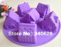 Wholesale Factory House Fondant Cake pan Silicone Mold Sugar craft Baking Pan Cake Decoration B006