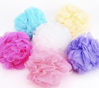 Wholesale Nylon Colorful bath ball BATH MITTEN Bath sponge bath flower essentials