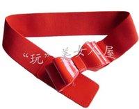 Wholesale 1pc Hot Selling Fashion Ladies PU leather Elastic Waist Belts Current Bow Elastic Waistband Exports Women s Free PU Belts