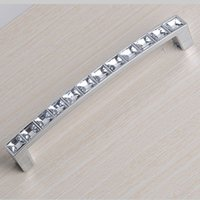 Cheap 128mm Crystal Cabinet Knob Best crystal handle knobs