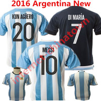 argentina futbol - 2016 Soccer Jersey Argentina camisetas de futbol LEO Messi Maillot Maradona Di Maria Kun Aguero Higuain New Home Football Shirts Top Quality