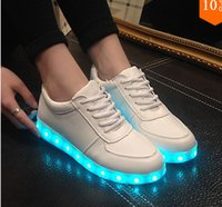 Wholesale 7 Colors LED Luminous Shoes Men Women Sneakers USB Charging Colorful LED lights Sneakers glowing shoes Hombre Mujer