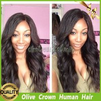 bank hair clips - Virgin Peruvian Human Hair Upart Wig Water Wave Full Lace Wig with Combs or Clips On Cap for African Americans