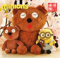 > 3 years old bear statue - Cute Minion Despicable Me Bob Bear Plush Stuffed Toy Soft Ted Bears Dolls Christmas Gift Toys Kids Brown Bear Brinquedo