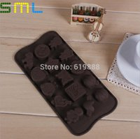Wholesale Boy Girl Silicone Molds Butterfly Chocolate Mould Horse Cake Stencil Fondant Ice Tray Cooking Tools SML062