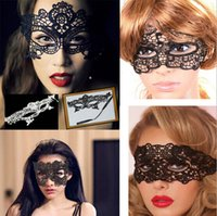 Wholesale Sexy Lovely Lace Halloween European Masks Party Masks Venetian Party Half Face Mask Christmas Mask Black Lace Mask Festive Masks