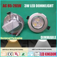Wholesale Dimmable LED Downlight Lighting Down Light Lamp Recessed Ceiling Lights Full W Ac85 to V CE UL FCC ROHS